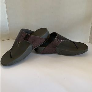 Fit Flop Electra classic pewter sandals size 9 New